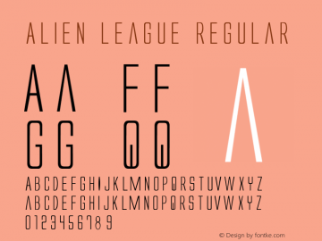 Alien League Regular 1 Font Sample