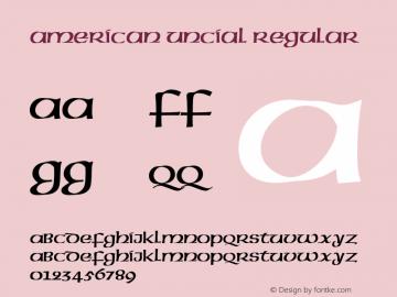 AmericanUncial-Regular 001.005图片样张