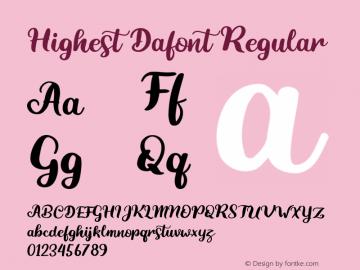Highest Dafont Font Family Highest Dafont-Uncategorized