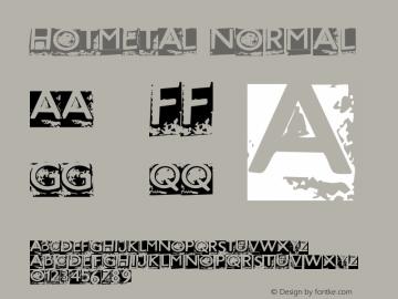 HOTMETAL Normal Version Macromedia Fontograp Font Sample