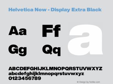 Helvetica Now Display W04 XBlk Version 1.00图片样张
