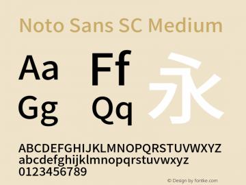 Noto Sans SC Medium 图片样张