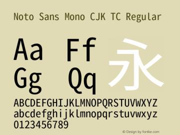 Noto Sans Mono CJK TC 图片样张