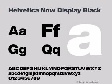 HelveticaNowDisplay-Black Version 1.00, build 4, s3图片样张