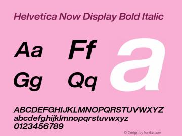 HelveticaNowDisplay-BoldIta Version 1.00, build 4, s3图片样张