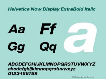 HelveticaNowDisplay-ExtBdIta Version 1.00, build 4, s3图片样张