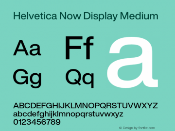 HelveticaNowDisplay-Medium Version 1.00, build 4, s3图片样张