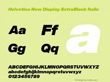 HelveticaNowDisplay-ExtBlkIta Version 1.00, build 4, s3图片样张