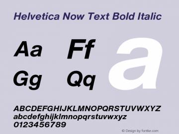 HelveticaNowText-BoldItalic Version 1.00, build 4, s3图片样张