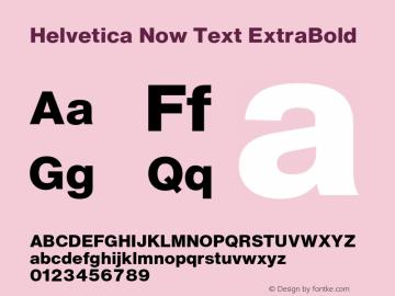 HelveticaNowText-ExtraBold Version 1.00, build 4, s3图片样张