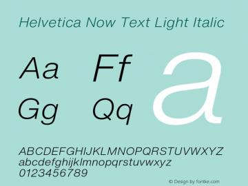 HelveticaNowText-LightItalic Version 1.00, build 4, s3图片样张