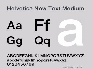 HelveticaNowText-Medium Version 1.00, build 4, s3图片样张