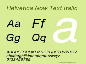 HelveticaNowText-RegIta Version 1.00, build 4, s3图片样张