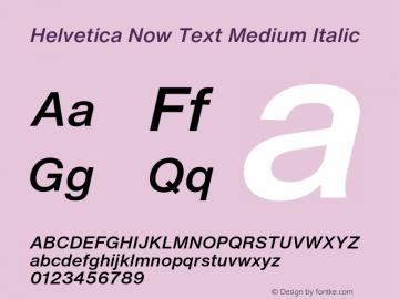 HelveticaNowText-MediumItalic Version 1.00, build 4, s3图片样张