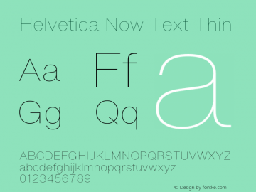 HelveticaNowText-Thin Version 1.00, build 4, s3图片样张