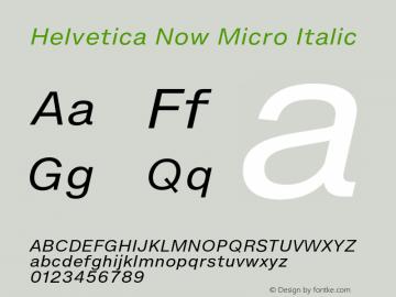 HelveticaNowMicro-Italic Version 1.00, build 4, s3图片样张