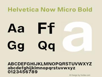 HelveticaNowMicro-Bold Version 1.00, build 4, s3图片样张