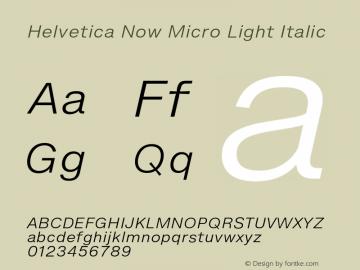 HelveticaNowMicro-LightItalic Version 1.00, build 4, s3图片样张