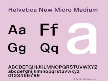 HelveticaNowMicro-Medium Version 1.00, build 4, s3图片样张
