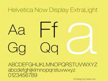 HelveticaNowDisplay-ExtLt Version 1.00, build 4, s3图片样张