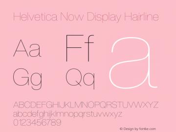 HelveticaNowDisplay-Hairline Version 1.00, build 4, s3图片样张