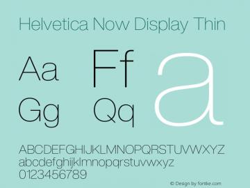 HelveticaNowDisplay-Thin Version 1.00, build 4, s3图片样张