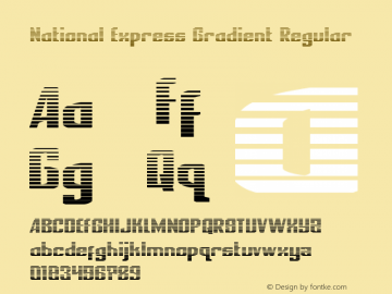 National Express Gradient Version 2.0; 2019图片样张