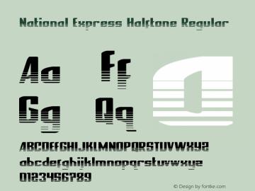 National Express Halftone Version 2.0; 2019图片样张