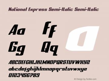 National Express Semi-Italic Version 2.0; 2019图片样张
