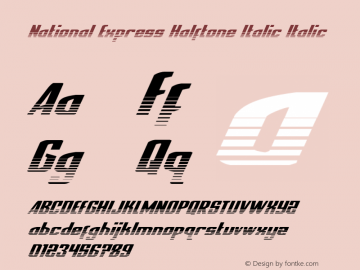 National Express Halftone Italic Version 2.0; 2019图片样张