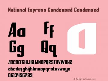 National Express Condensed Version 2.0; 2019图片样张