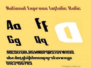 National Express Leftalic Version 2.0; 2019图片样张
