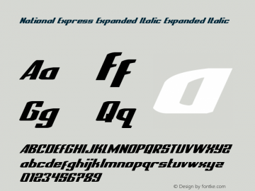National Express Expanded Italic Version 2.0; 2019图片样张