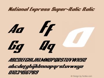 National Express Super-Italic Version 2.0; 2019图片样张