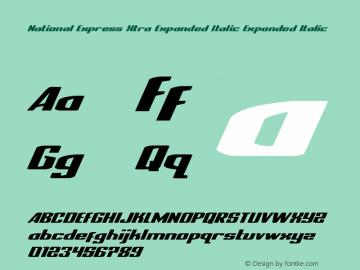 National Express Xtra Expanded Italic Version 2.0; 2019图片样张