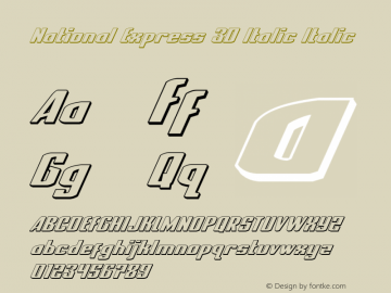 National Express 3D Italic Version 2.0; 2019图片样张