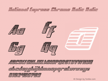 National Express Chrome Italic Version 2.0; 2019图片样张