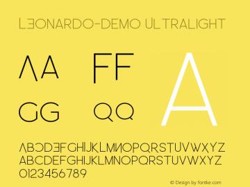 LEonardo-Demo Ultralight Version 1.002;Fontself Maker 3.1.1图片样张