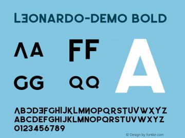 LEonardo-Demo Bold Version 1.002;Fontself Maker 3.1.1图片样张
