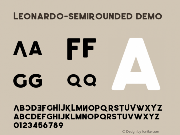 Leonardo-SemiRounded Demo Version 1.002;Fontself Maker 3.1.1图片样张