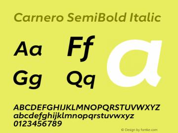Carnero SemiBold Italic Version 1.10图片样张