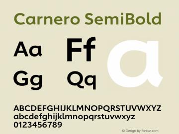 Carnero SemiBold Version 1.10图片样张