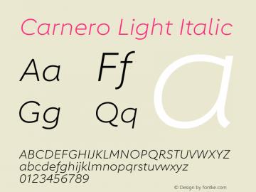 Carnero Light Italic Version 1.10图片样张