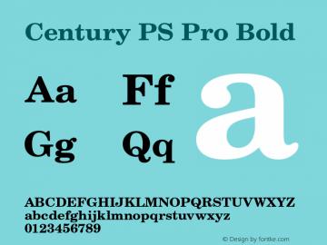 CenturyPSPro-Bold Version 1图片样张