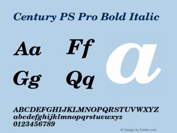 CenturyPSPro-BoldItalic Version 1图片样张