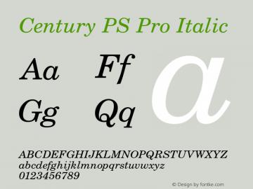 CenturyPSPro-Italic Version 1图片样张