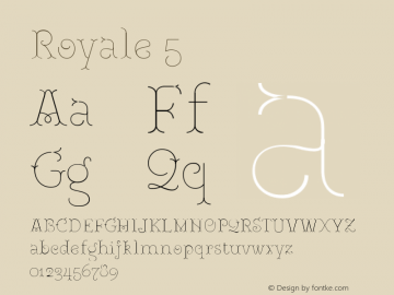 Royale5 Version 1.000;PS 001.000;hotconv 1.0.88;makeotf.lib2.5.64775;YWFTv17图片样张