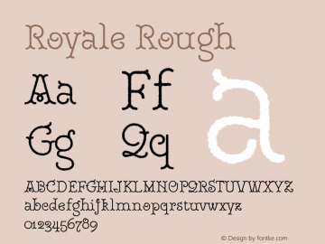 RoyaleRough Version 1.000;PS 001.000;hotconv 1.0.88;makeotf.lib2.5.64775;YWFTv17图片样张