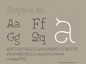 Royale20 Version 1.000;PS 001.000;hotconv 1.0.88;makeotf.lib2.5.64775;YWFTv17图片样张