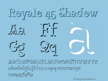 Royale45Shadow Version 1.000;PS 001.000;hotconv 1.0.88;makeotf.lib2.5.64775;YWFTv17图片样张